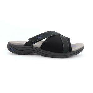 Abeo Gargona Slides Sandals Black Size 8 (EPB)4197